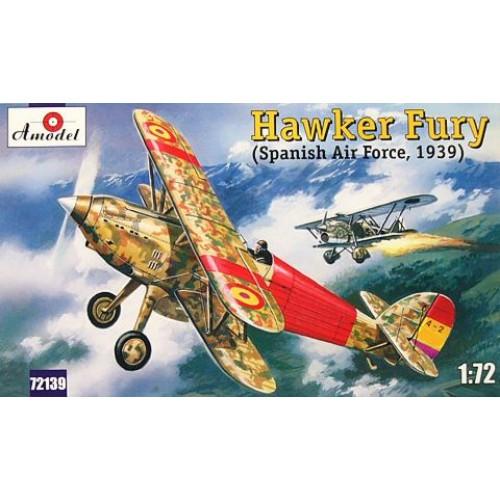 AMO-72139 1/72 Hawker Fury Spanish Republican Air Force 1939 model kit