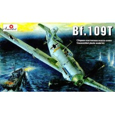 AMO-7214 1/72 Messerschmitt Bf-109T German WW2 carrier born fighter model kit