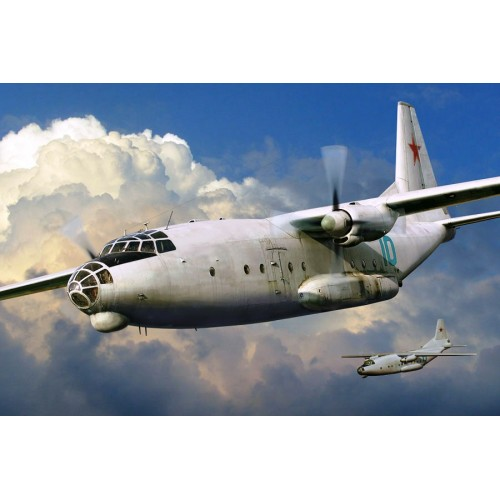 AMO-72141 1/72 Antonov An-8 Soviet Military Transport Aircraft (NATO name: Camp) model kit