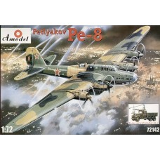 AMO-72142 1/72 Petlyakov Pe-8 Soviet WW2 Heavy Bomber and AS-2 Aircraft Starter model kit