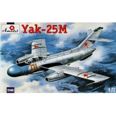 AMO-72143 1/72 Yakovlev Yak-25M Soviet Jet Fighter model kit