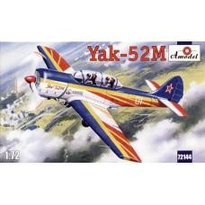 AMO-72144 1/72 Yak-52M Soviet Two-Seat Aerobatic Aircraft model kit