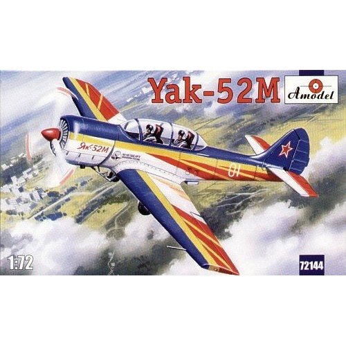 AMO-72144 1/72 Yak-52M Soviet Two-Seat Aerobatic Aircraft model kit