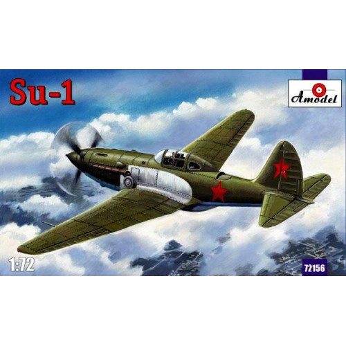 AMO-72156 1/72 Sukhoi Su-1 Soviet WW2 Experimental Fighter model kit
