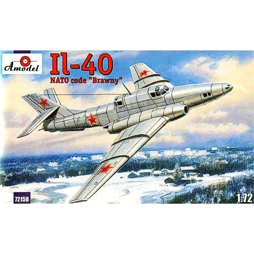 AMO-72158 1/72 Ilyushin Il-40 'Brawny' Soviet Two-Seat Jet-Engined Armored Ground-Attack Aircraft (1st prototype) model kit