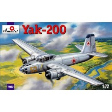 AMO-72162 1/72 Yakovlev Yak-200 Soviet Twin-Engine Trainer Bomber (for pilots training) model kit