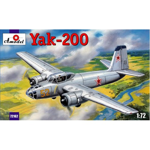 AMO-72162 1/72 Yakovlev Yak-200 Soviet Twin-Engine Trainer Bomber (for pilots training) model kit