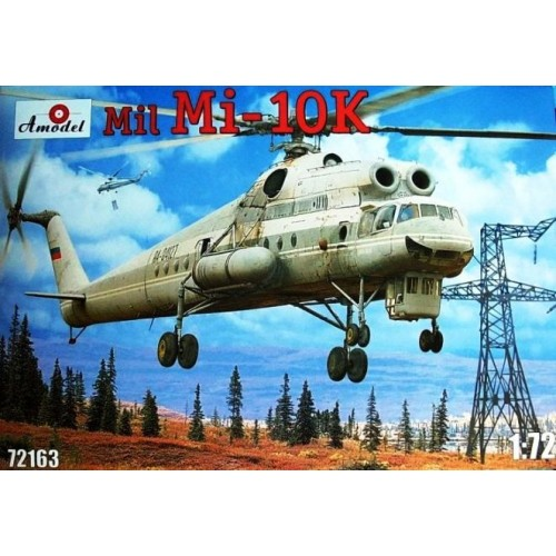 AMO-72163 1/72 Mil Mi-10K 'Flying Crane' Soviet Heavy Helicopter model kit