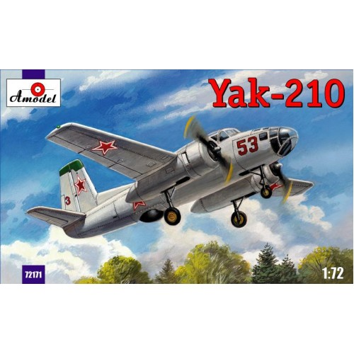 AMO-72171 1/72 Yakovlev Yak-210 Soviet Twin-Engine Trainer Bomber (for navigators training) model kit