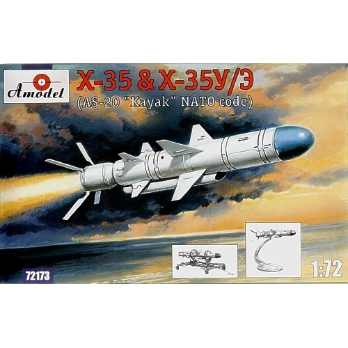 AMO-72173 1/72 Zvezda Kh-35 and Kh-35U/E (AS-20 'Kayak' NATO Code) Soviet/Russian Subsonic Anti-Ship Guided Missiles model kit