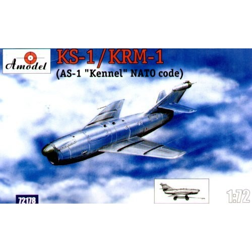 AMO-72178 1/72 Raduga KS-1/KRM-1 'Komet' (AS-1 'Kennel' NATO Code) Soviet Anti-Ship Air-to-Surface Winged Missile model kit