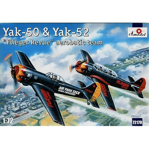 AMO-72179 1/72 Yakovlev Yak-50 and Yak-52 Flieger Revue Aerobatic Team model kit