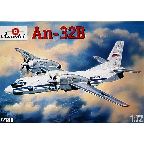 AMO-72180 1/72 Antonov An-32B Soviet Transport Aircarft model kit