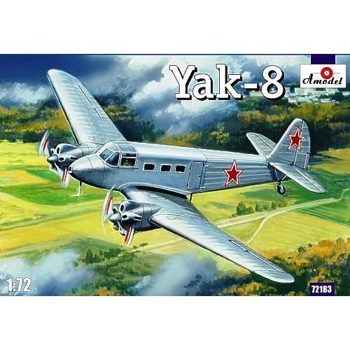 AMO-72183 1/72 Yakovlev Yak-8 Soviet Passenger Aircraft model kit