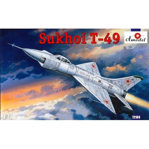 AMO-72184 1/72 Sukhoi T-49 Soviet Experimental Interceptor model kit