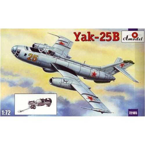 AMO-72185 1/72 Yakovlev Yak-25B Soviet Light Jet Bomber model kit