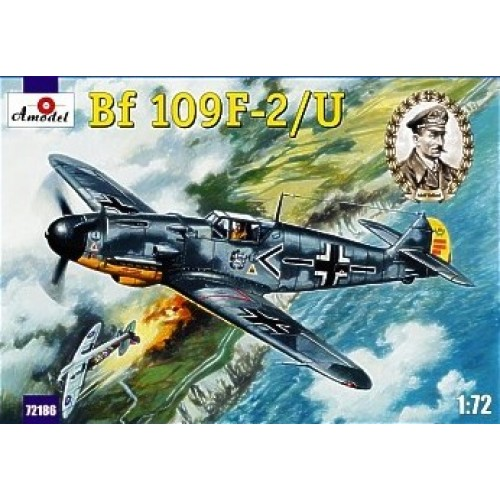 AMO-72186 1/72 Messerschmitt Bf-109F-2/U German WW2 Fighter (Galland Luftwaffe Ace) model kit