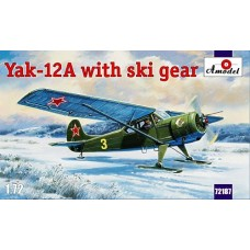 AMO-72187 1/72 Yakovlev Yak-12A Soviet Light Aircraft With Ski Gear model kit