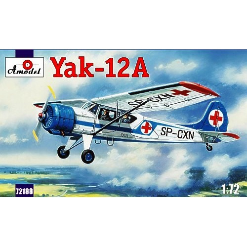 AMO-72188 1/72 Yakovlev Yak-12A Soviet Multipurpose aircraft model kit