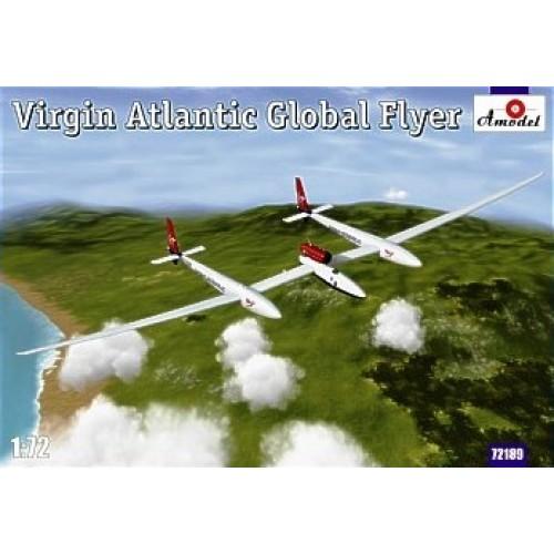 AMO-72189 1/72 Virgin Atlantic GlobalFlyer Scaled Composites Model 311 (N277SF) Solo Nonstop Airplane Flight Around the World 2005 model kit