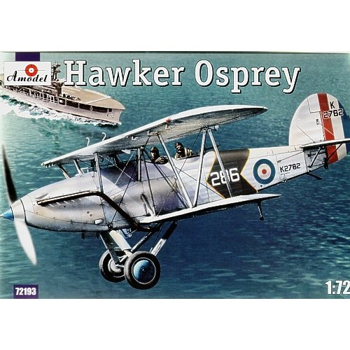 AMO-72193 1/72 Hawker Osprey British Carrier-Borne Biplane Two-Seat Fleet Spotter and Reconnaissance Aircraft model kit