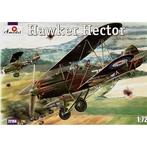 AMO-72194 1/72 Hawker Hector British Army Co-Operation Aircraft model kit