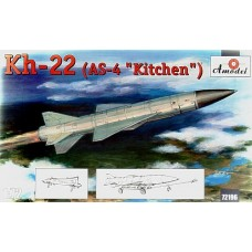 AMO-72196 1/72 Raduga X-22 ( Kh-22) AS-4 'Kitchen' Soviet Large Long-Range Anti-Ship Missile model kit