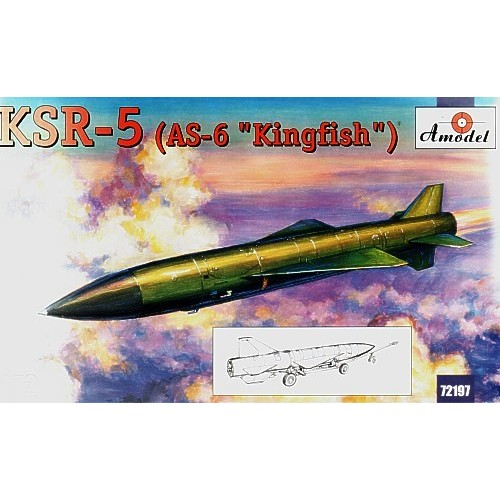 AMO-72197 1/72 Raduga KSR-5 (AS-6 'Kingfish') Soviet Long-Range Air Launched Cruise Missile and Anti Ship Missile model kit