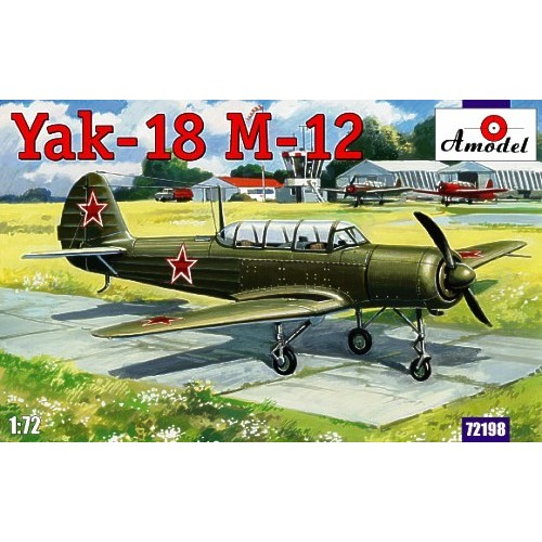 AMO-72198 1/72 Yakovlev Yak-18 M-12 Soviet Two-Seat Military Primary Trainer Aircraft model kit