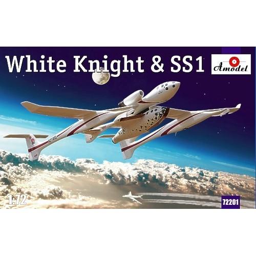 AMO-72201 1/72 Burt Rutan White Knight and SS-1 (SpaceShipOne) Sub-Orbital Spaceplane model kit