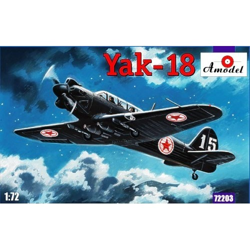 AMO-72203 1/72 Yakovle Yak-18 North Korea Light Bomber variant (plus decals for Poland, USAF, Russia, East Germany/DDR) model kit