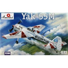 AMO-72205 1/72 Yakovlev Yak-55M Soviet Aerobatic Aircraft with 'FORTIS' paintings model kit
