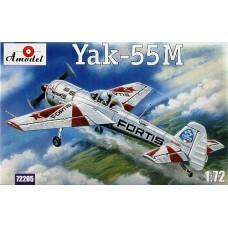 AMO-72205 1/72 Yakovlev Yak-55M Soviet Aerobatic Aircraft with 'FORTIS' paintings model kit