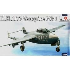 AMO-72207 1/72 De Havilland DH.100 Vampire Mk.1 British Jet-Engine Fighter model kit