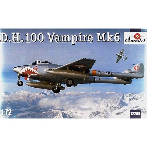 AMO-72208 1/72 De Havilland DH.100 Vampire Mk.6 British Jet-Engine Fighter model kit