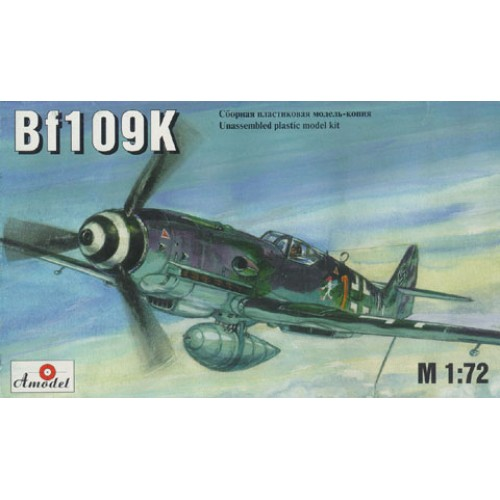 AMO-7221 1/72 Messerschmitt Bf-109K German WW2 fighter model kit