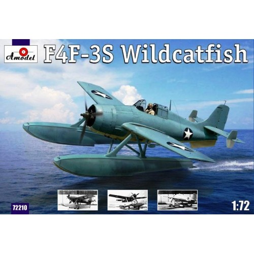 AMO-72210 1/72 Grumman F4F-3S 'Wildcatfish' Floatplane Version of F4F-3 'Wildcat' WW2 US Navy Fighter model kit