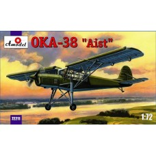 AMO-72211 1/72 Antonov OKA-38 Aist (Stork) Soviet Multipuspose Light Aircraft (copy of German Fi-156 Storch) model kit