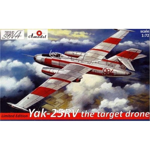 AMO-72212-01 1/72 Yak-25 RV Drone model kit