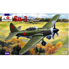 AMO-72215 1/72 Sukhoi Su-3 Soviet WW2 Experimental Fighter model kit