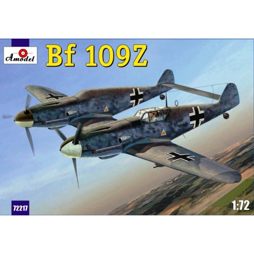AMO-72217 1/72 Messerschmitt Bf-109Z 'Zwilling' German WW2-period Experimental Two-Fuselage Fighter model kit