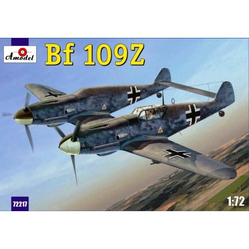 AMO-72217 1/72 Messerschmitt Bf-109Z 'Zwilling' German WW2-period Experimental Two-Fuselage Fighter model kit