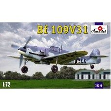 AMO-72219 1/72 Messerschmitt Bf-109V-31 Experimental Fighter (with elements of Me-309 design: ventral radiator and 'wide' landing gear) model kit