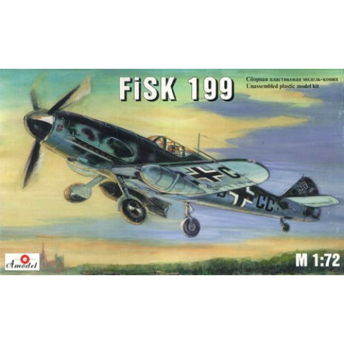 AMO-7222 1/72 FISK-199 German WW2 fighter model kit