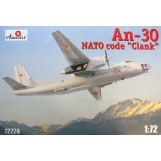 AMO-72220 1/72 Antonov An-30 Soviet Aerial Cartography Aircraft (NATO name: Clank) model kit