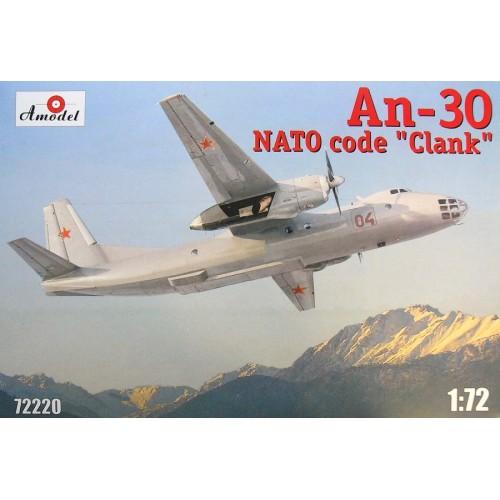AMO-72220 1/72 Antonov An-30 Soviet Aerial Cartography Aircraft (NATO name: Clank) model kit