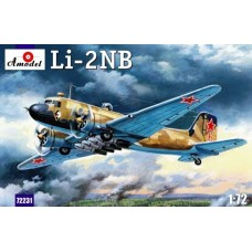 AMO-72231 1/72 Lisunov Li-2NB Soviet WW2 Night Bomber (bomber version of transport aircraft) model kit