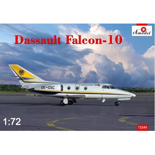 AMO-72245 1/72 Dassault Falcon-10 business jet model kit