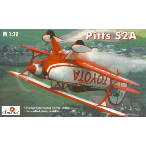 AMO-7228 1/72 Pitts S2A Aerobatic plane model kit
