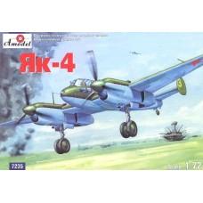 AMO-7235 1/72 Yakovlev Yak-4 Soviet WW2 short-range bomber model kit